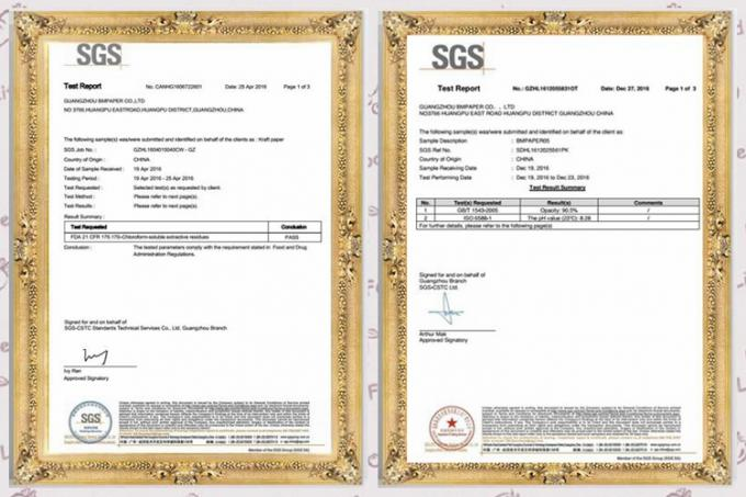 250gsm 270gsm 300gsm White C1S Ivory Board Fold One Side Coated FSC Certified